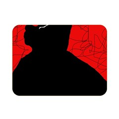 Red and black abstract design Double Sided Flano Blanket (Mini)