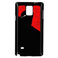 Red and black abstract design Samsung Galaxy Note 4 Case (Black)