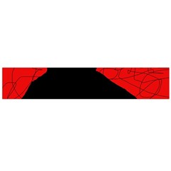 Red and black abstract design Flano Scarf (Large)