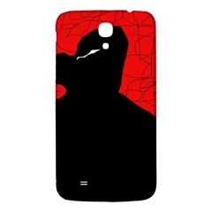 Red and black abstract design Samsung Galaxy Mega I9200 Hardshell Back Case