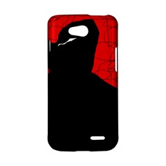 Red and black abstract design LG L90 D410