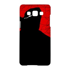 Red and black abstract design Samsung Galaxy A5 Hardshell Case