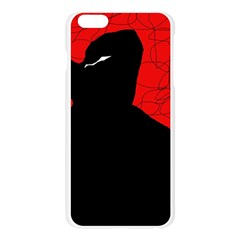 Red and black abstract design Apple Seamless iPhone 6 Plus/6S Plus Case (Transparent)