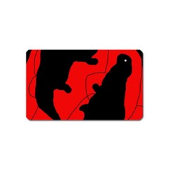 Black and red lizard  Magnet (Name Card)