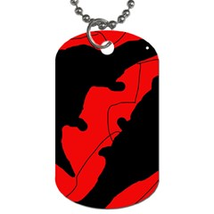 Black and red lizard  Dog Tag (One Side)