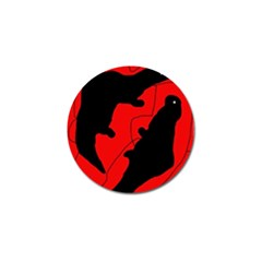 Black and red lizard  Golf Ball Marker