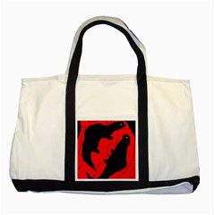 Black and red lizard  Two Tone Tote Bag