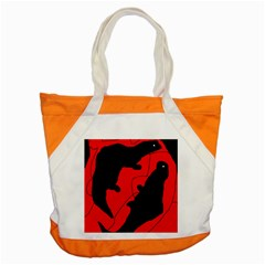 Black and red lizard  Accent Tote Bag
