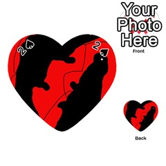 Black and red lizard  Playing Cards 54 (Heart)