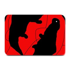 Black and red lizard  Plate Mats