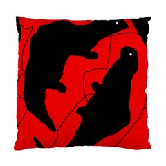 Black and red lizard  Standard Cushion Case (One Side)
