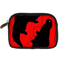 Black and red lizard  Digital Camera Cases