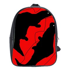 Black and red lizard  School Bags(Large)