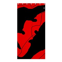 Black and red lizard  Shower Curtain 36  x 72  (Stall)