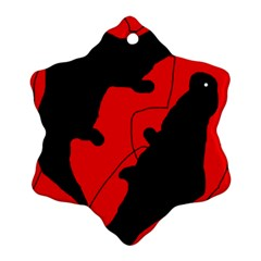 Black and red lizard  Ornament (Snowflake)