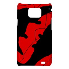 Black and red lizard  Samsung Galaxy S2 i9100 Hardshell Case