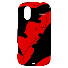 Black and red lizard  HTC Amaze 4G Hardshell Case
