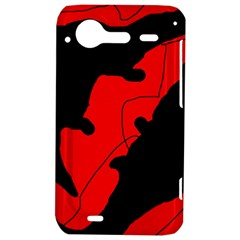 Black and red lizard  HTC Incredible S Hardshell Case
