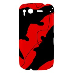 Black and red lizard  HTC Desire S Hardshell Case