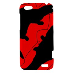 Black and red lizard  HTC One V Hardshell Case