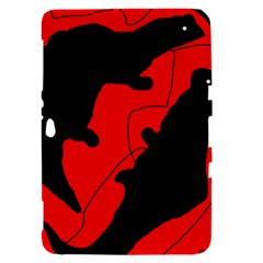 Black and red lizard  Samsung Galaxy Tab 8.9  P7300 Hardshell Case