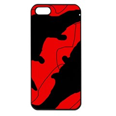 Black and red lizard  Apple iPhone 5 Seamless Case (Black)