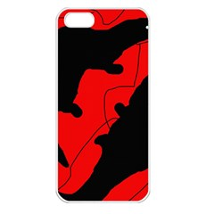 Black and red lizard  Apple iPhone 5 Seamless Case (White)