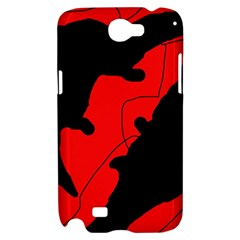 Black and red lizard  Samsung Galaxy Note 2 Hardshell Case