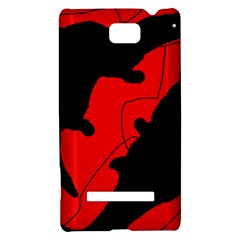 Black and red lizard  HTC 8S Hardshell Case