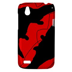 Black and red lizard  HTC Desire V (T328W) Hardshell Case