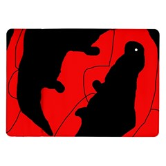 Black and red lizard  Samsung Galaxy Tab 10.1  P7500 Flip Case