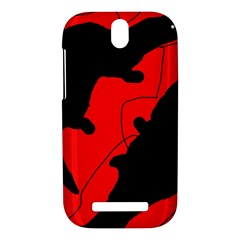 Black and red lizard  HTC One SV Hardshell Case