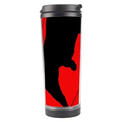 Black and red lizard  Travel Tumbler