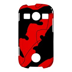 Black and red lizard  Samsung Galaxy S7710 Xcover 2 Hardshell Case