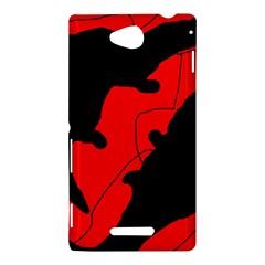 Black and red lizard  Sony Xperia C (S39H)