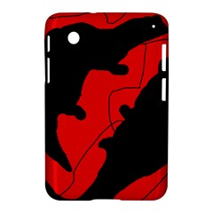 Black and red lizard  Samsung Galaxy Tab 2 (7 ) P3100 Hardshell Case