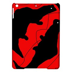 Black and red lizard  iPad Air Hardshell Cases