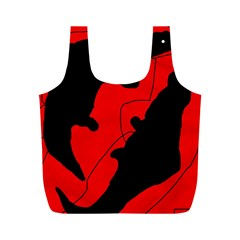 Black and red lizard  Full Print Recycle Bags (M)