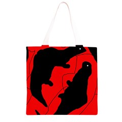 Black and red lizard  Grocery Light Tote Bag
