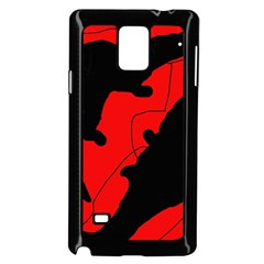 Black and red lizard  Samsung Galaxy Note 4 Case (Black)