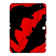 Black and red lizard  Samsung Galaxy Tab 4 (10.1 ) Hardshell Case