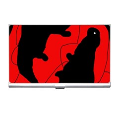 Black and red lizard  Business Card Holders