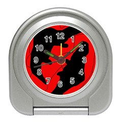 Black and red lizard  Travel Alarm Clocks