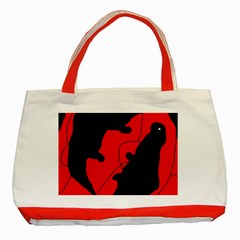 Black and red lizard  Classic Tote Bag (Red)
