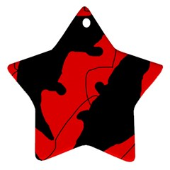 Black and red lizard  Star Ornament (Two Sides)