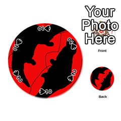Black and red lizard  Playing Cards 54 (Round)