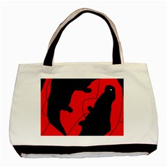 Black and red lizard  Basic Tote Bag (Two Sides)