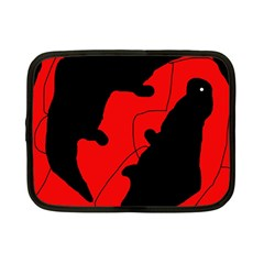 Black and red lizard  Netbook Case (Small)