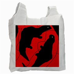 Black and red lizard  Recycle Bag (Two Side)