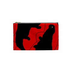 Black And Red Lizard  Cosmetic Bag (small)